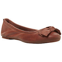 Buy Bertie Momos Ballerina Pumps, Burgundy Online at johnlewis.com