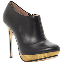 Buy Dune Anthem Metallic Heel Platform Shoe Boots, Black Online at johnlewis.com
