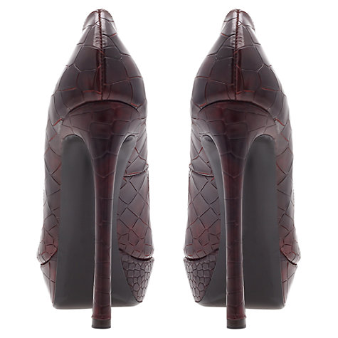 Buy Kurt Geiger Empire Court Shoes, Brown Online at johnlewis.com
