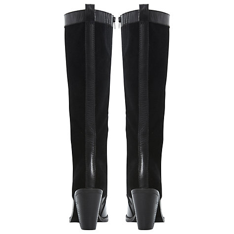 Buy Bertie Tempest Knee Boots, Black Online at johnlewis.com