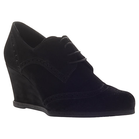 Buy Carvela Arthur Wedge Shoe Boots, Black Online at johnlewis.com