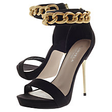 Buy Carvela Glib Heeled Sandals, Nude Online at johnlewis.com
