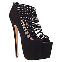 Buy Carvela Georgina Studded High Platform Stiletto Heel Court Shoes, Black Online at johnlewis.com