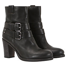 Buy Mint Velvet Rugged Double Buckle Ankle Boots, Black Online at johnlewis.com