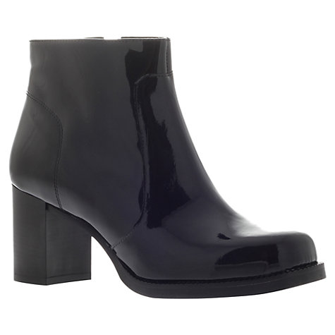 Buy Carvela Show Ankle Boots, Patent Black Online at johnlewis.com