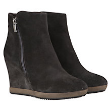 Buy Mint Velvet Suede Wedge Zip Ankle Boots Online at johnlewis.com