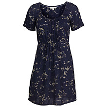 Buy Fat Face Chloe Drifting Bird Tunic Dress, Navy Online at johnlewis.com
