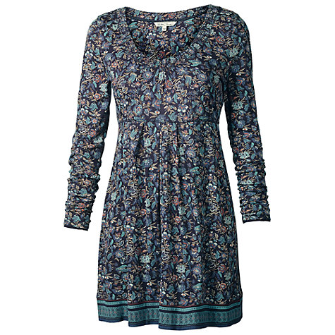 Buy Fat Face Penny Drifting Bird Tunic Dress, Blue Online at johnlewis.com