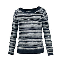 Buy Fat Face Ellie Angora Stripe Jumper, Navy Online at johnlewis.com