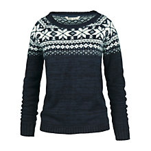 Buy Fat Face Andi Angora Mix Jumper, Navy Online at johnlewis.com