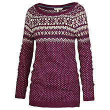 Buy Fat Face Pattern Knit Jumper, Cranberry Online at johnlewis.com