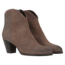 Buy Mint Velvet Leather Stud Heel Ankle Boots Online at johnlewis.com
