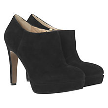 Buy Mint Velvet Suede Shoe Boots, Black Online at johnlewis.com