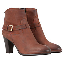 Buy Mint Velvet Leather Tab Ankle Boots, Tan Online at johnlewis.com