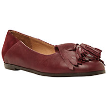 Buy Bertie Liza Tassel Loafers, Burgundy Online at johnlewis.com