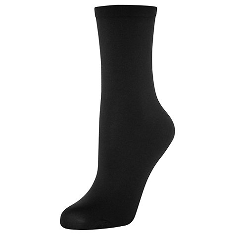 Buy Wolford Velvet Ankle Socks, Black Online at johnlewis.com