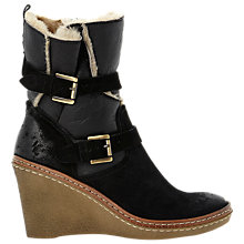 Buy Dune Black Pellan Wedge Ankle Boots Online at johnlewis.com