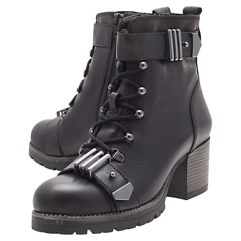 Buy Carvela Smooth Ankle Boots, Black Online at johnlewis.com