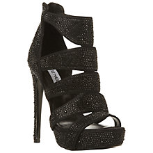 Buy Steve Madden Spycee R Platform Sandals, Black Rhinestone Online at johnlewis.com
