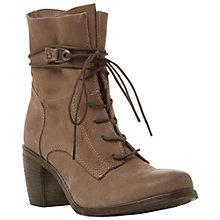 Buy Steve Madden Rambow Leather Ankle Boots, Brown Online at johnlewis.com