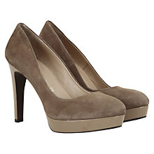 Buy Mint Velvet Suede Platform Court Shoes, Mink Online at johnlewis.com