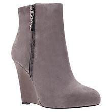Buy Carvela Sweet Suede Wedge Heel Ankle Boots, Grey Online at johnlewis.com
