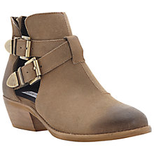 Buy Steve Madden Cinch Suede Ankle Boots, Taupe Online at johnlewis.com