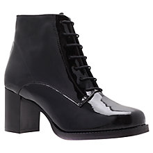 Buy Carvela Stuart Lace-Up Ankle Boots, Black Online at johnlewis.com