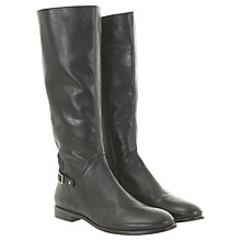 Buy Mint Velvet Buckle Calf Boots, Black Online at johnlewis.com