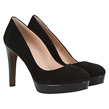 Buy Mint Velvet Suede Platform Court Shoes, Black Online at johnlewis.com