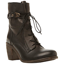 Buy Steve Madden Rambow Leather Ankle Boots, Black Online at johnlewis.com