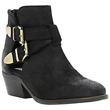 Buy Steve Madden Cinch Suede Ankle Boots, Black Online at johnlewis.com