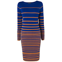 Buy Jaeger Irregular Stripe Knit Dress, Multi Online at johnlewis.com