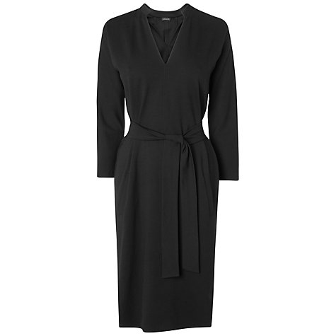 Buy Jaeger Raglan Sleeve Jersey Dress, Black Online at johnlewis.com