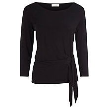 Buy Kaliko Side Tie Top, Black Online at johnlewis.com