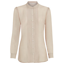 Buy Planet Pleat Detail Blouse, Mink Online at johnlewis.com