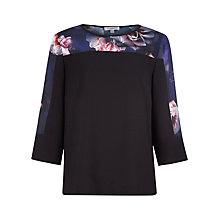 Buy Kaliko Shadow Rose Blouse, Blue Online at johnlewis.com