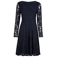 Buy Kaliko Lace Skater Dress, Blue Online at johnlewis.com