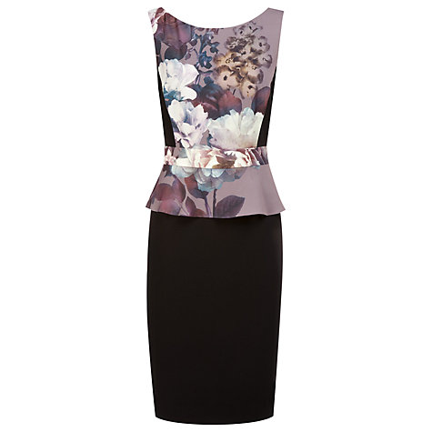 Buy Kaliko Camelia Print Dress, Black Online at johnlewis.com