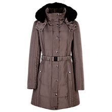 Buy Planet Belted Coat, Neutral Mink Online at johnlewis.com