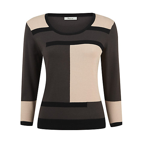 Buy Precis Petite Colourblock Jumper, Multi Online at johnlewis.com