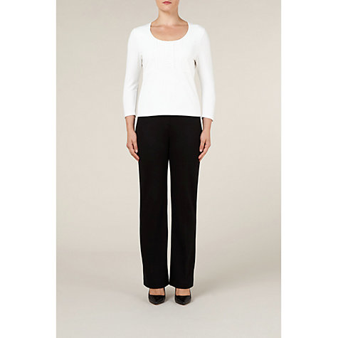 Buy Precis Petite Ponteroma Flare Trouser, Black Online at johnlewis.com