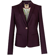 Buy Ted Baker Flannel Suit Blazer, Grape Online at johnlewis.com
