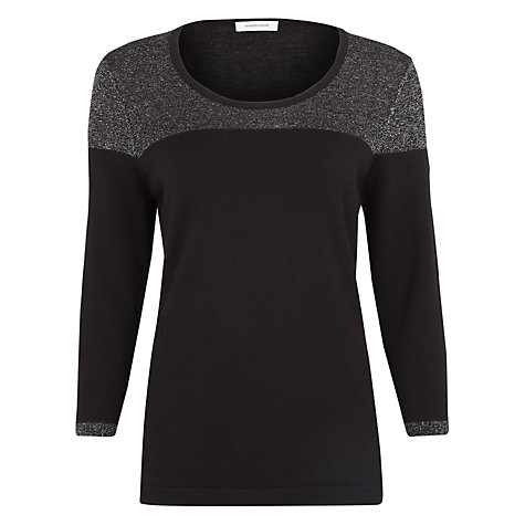 Buy Windsmoor Lurex Trim Jumper, Black Online at johnlewis.com