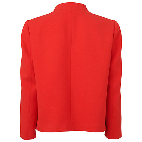 Buy Jaeger Wool Cut Away Jacket, Bright Red Online at johnlewis.com