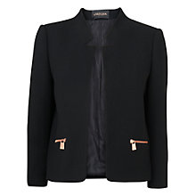 Buy Jaeger Wool Cut Away Jacket, Black Online at johnlewis.com