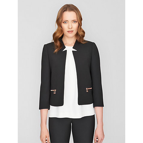 Buy Jaeger Wool Cut Away Jacket Online at johnlewis.com