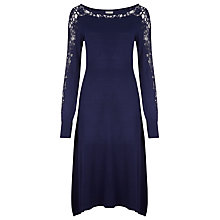 Buy Kaliko Lace Trimmed Dress, Blue Online at johnlewis.com