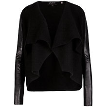 Buy Ted Baker Gaeton Leather Cardigan, Black Online at johnlewis.com