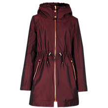 Buy Ted Baker Ruye Faux Fur Trimmed Parka Coat, Black Online at johnlewis.com